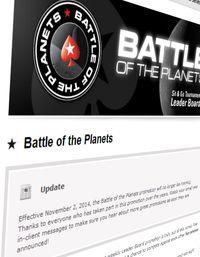 PokerStars zvyšují rake u některých formátů a ruší Battle of Planets